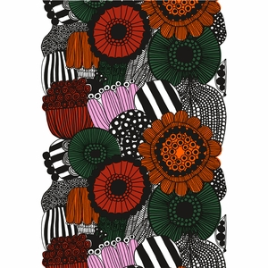 Marimekko Siirtolapuutarha White / Orange / Green Fabric Repeat
