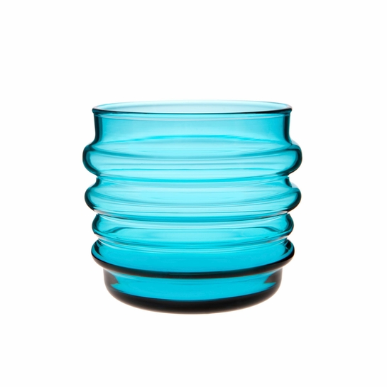 Marimekko Socks Rolled Down Turquoise Tumblers - Set of 2