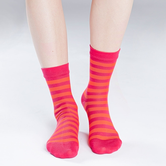 Marimekko Striped Raspberry/Red Socks