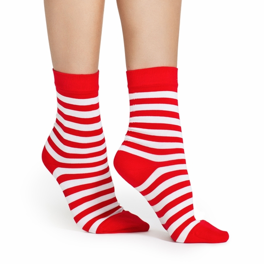 Marimekko Striped Red/White Socks