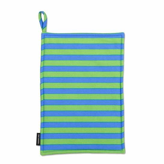 Marimekko Tasaraita Anniversary Green / Blue Pot Holder