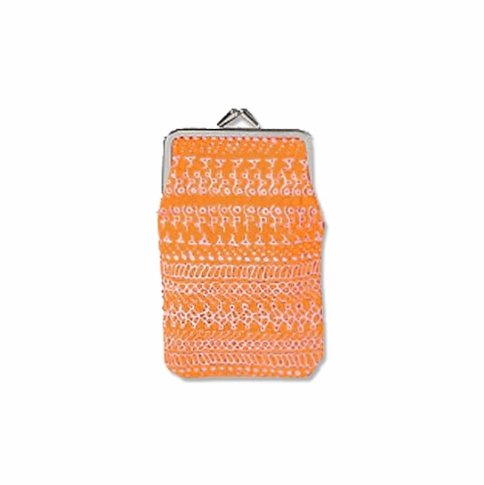 Marimekko Tattari Orange / Pink Midi Coin Purse