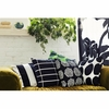 Marimekko Tiiliskivi Black / White Large Throw Pillow