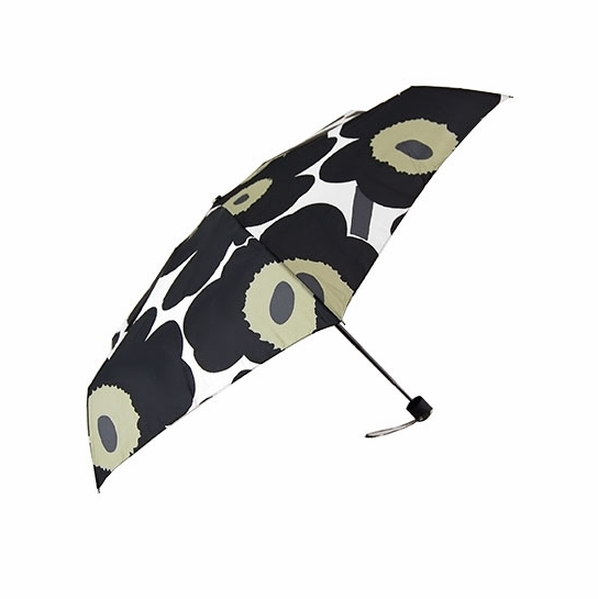 Marimekko Unikko Black / White Mini-Manual Umbrella