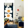Marimekko Unikko Black/White Sateen Fabric Repeat - 50th Anniversary Edition