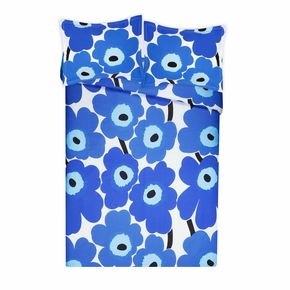 Marimekko Unikko Blue King Duvet Cover Set