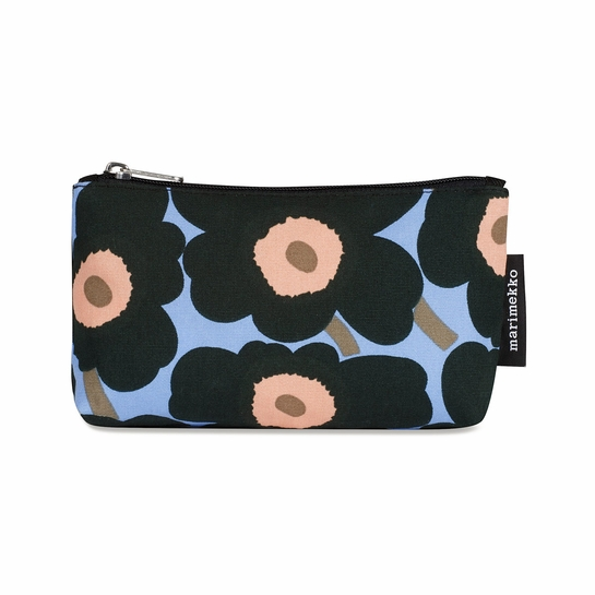 Marimekko Unikko Blue / Peach Eevi Cosmetic Bag