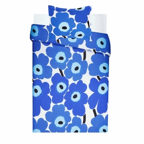 Marimekko Unikko Blue Twin Duvet Cover Set