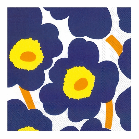 Marimekko Unikko Dark Blue Lunch Napkins