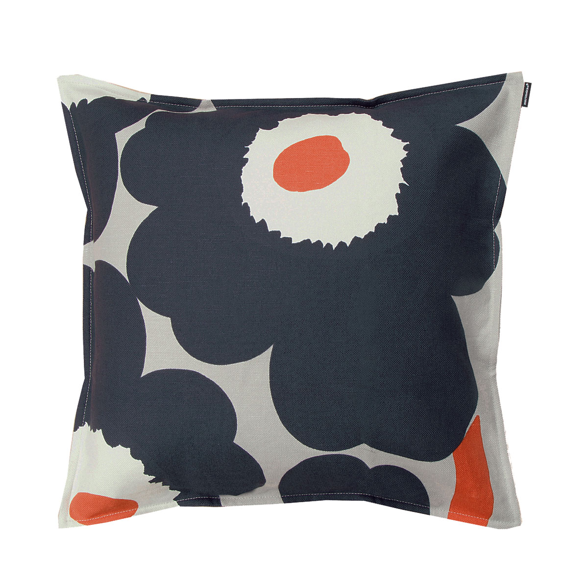 Marimekko Unikko Dark Grey Throw Pillow 50 Off Or More