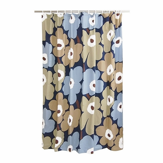 Marimekko Unikko Dusk Cotton Shower Curtain