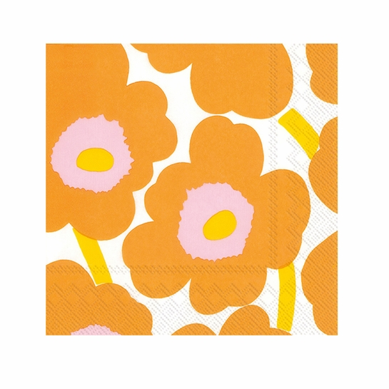 Marimekko Unikko Orange Cocktail Napkins