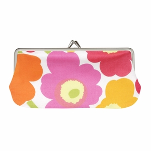 Marimekko Unikko Pink/Orange Eyeglass Case
