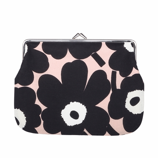Marimekko Unikko Powder Pink / Black / White Large Coin Purse