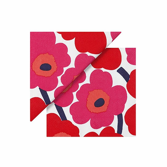 Marimekko Unikko Red Cocktail Napkins