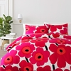 Marimekko Unikko Red Full / Queen Duvet Cover Set
