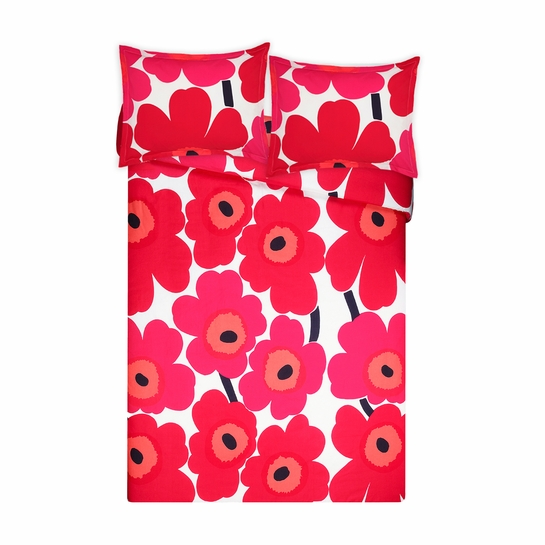 Marimekko Unikko Red King Duvet Cover Set