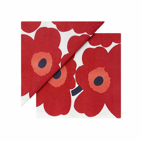 Marimekko Unikko Red Lunch Napkins