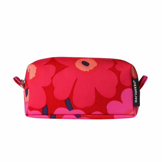 Marimekko Unikko Red / Pink Taimi Cosmetic Bag