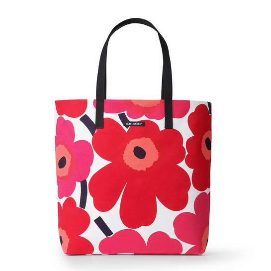 Marimekko Unikko Red Silja Shopper Bag