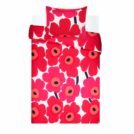 Marimekko Unikko Red Twin Duvet Cover Set