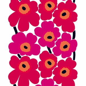Marimekko Unikko Red / White Fabric