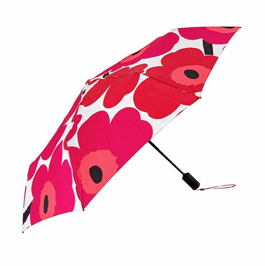 Marimekko Unikko Red / White Lux Umbrella