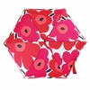 Marimekko Unikko Red / White Mini-Manual Umbrella