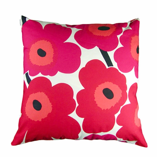 Marimekko Unikko Red/White Large Throw Pillow