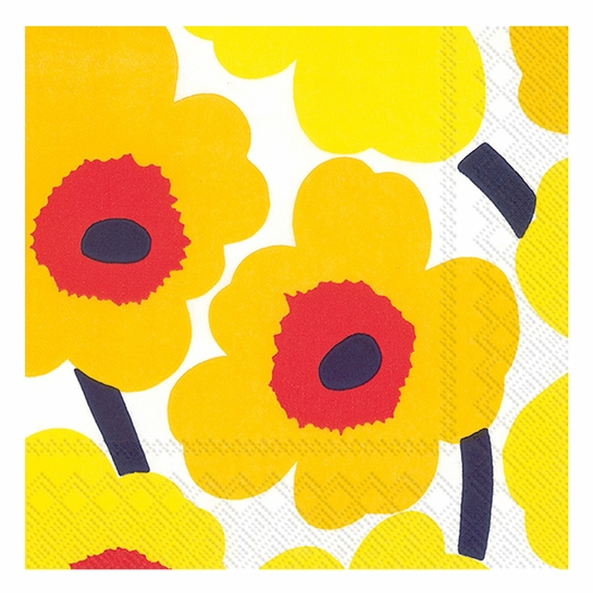 Marimekko Unikko Yellow Lunch Napkins