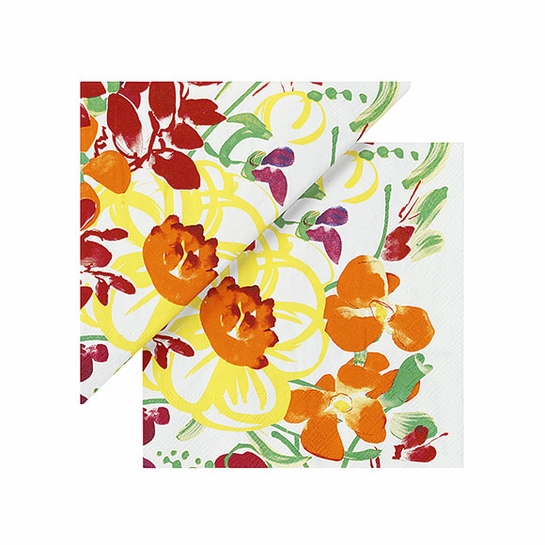 Marimekko Ursula White/Multi Cocktail Napkins