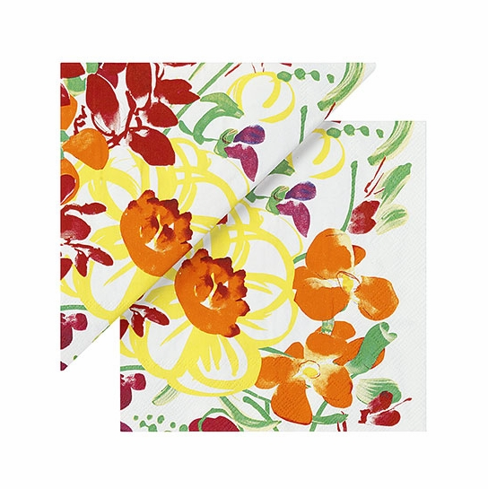 Marimekko Ursula White/Multi Lunch Napkins