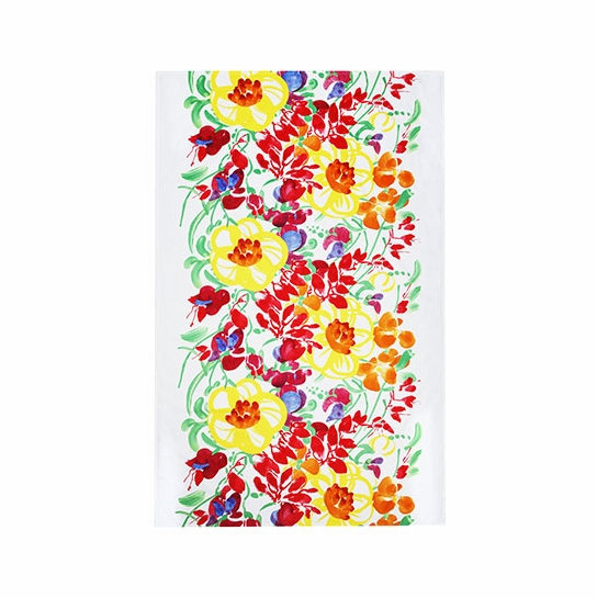 Marimekko Ursula White/Multi Short Tablecloth