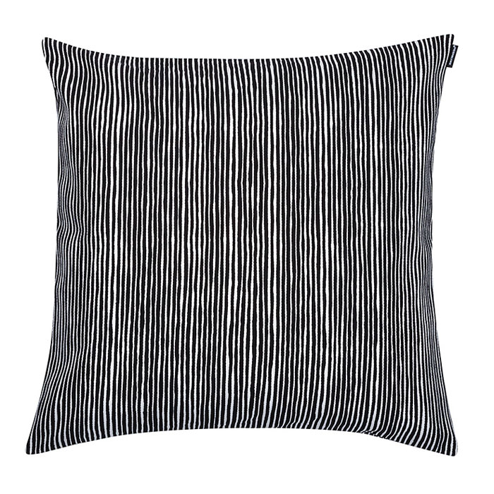 Oversized Black Throw Pillow : Marimekko Varvunraita Black/White Heavyweight Large Throw Pillow - Marimekko Fabric & Throw ...