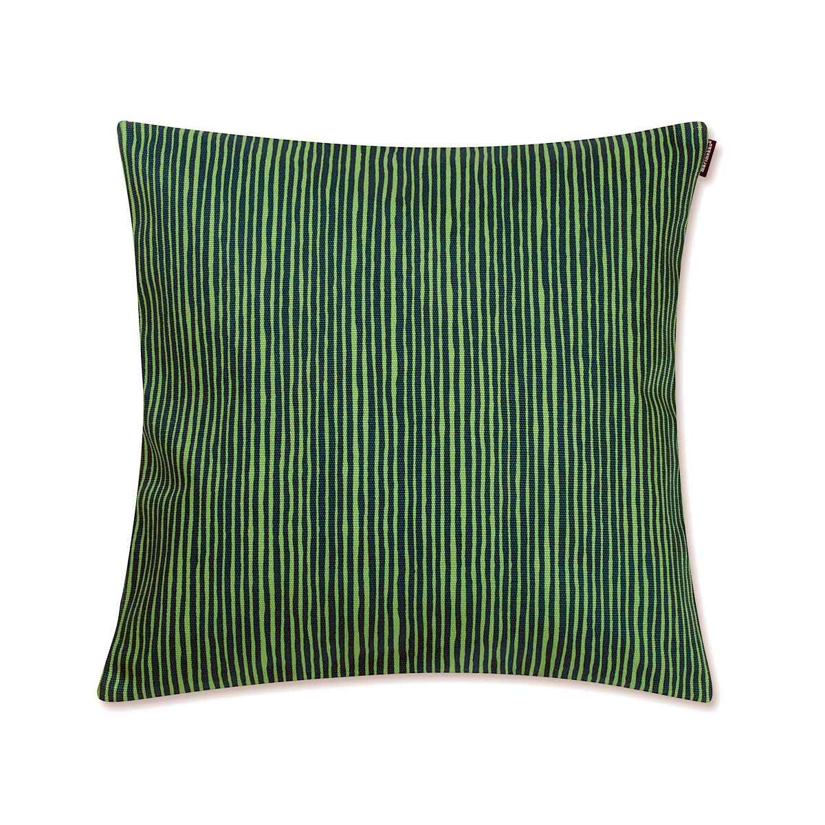 Small Green Throw Pillow : Marimekko Varvunraita Green Heavyweight Small Throw Pillow - Marimekko Fabric & Throw Pillow Sale