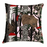 Marimekko Veljekset Finland 100 Pink Throw Pillow