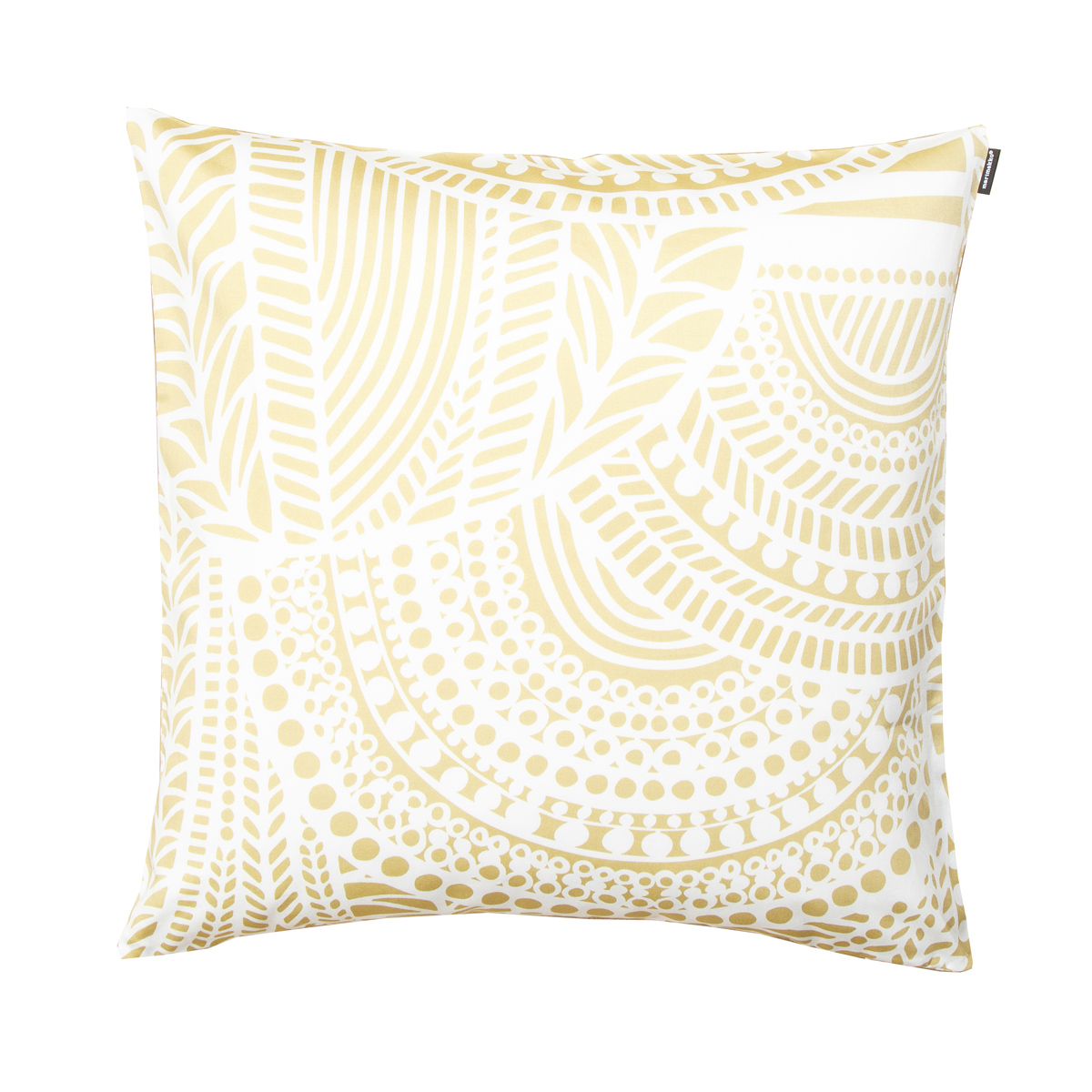 Throw Pillow White : Marimekko Vuorilaakso White / Gold Throw Pillow - Marimekko Fabric & Throw Pillow Sale