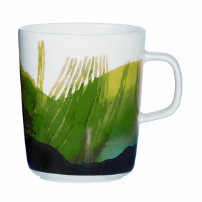 Marimekko Weather Diary White / Green Mug