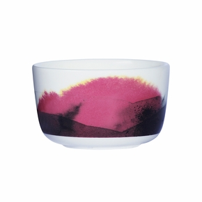 Marimekko Weather Diary White / Pink / Yellow Dessert Bowl