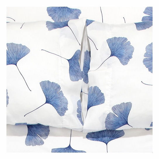 Marimekko White / Blue Ginkgo Full Sheet Set