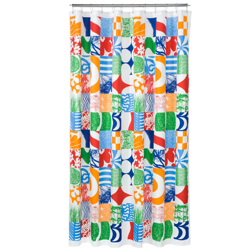 Marimekko Yhdess Multi Colored Polyester Shower Curtain Marimekko Shower Curtains