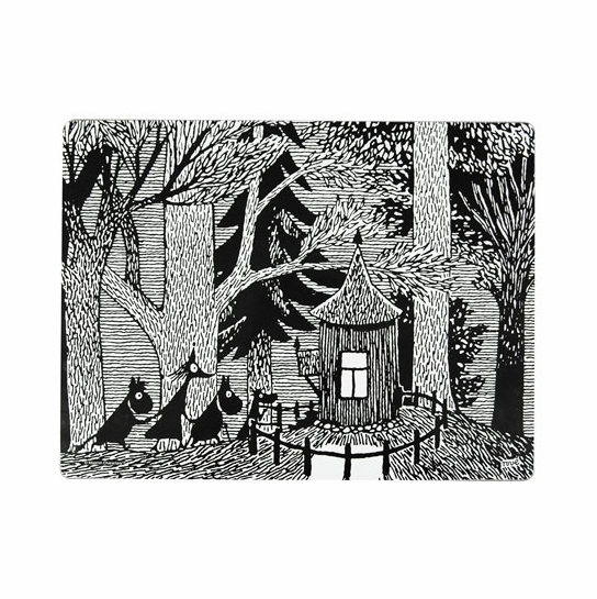 Moomin Cottage in the Woods Thick Tablemat