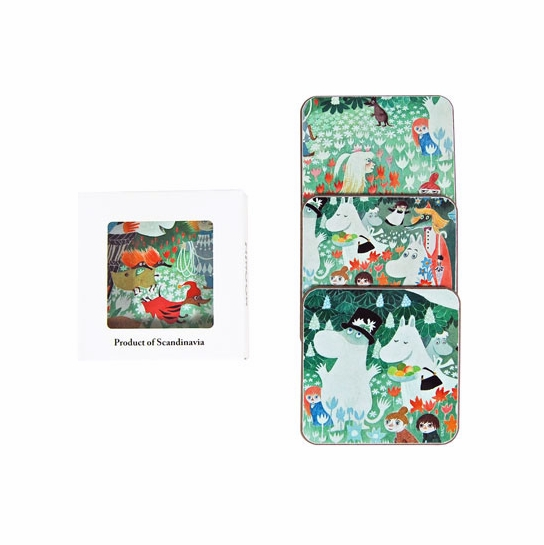 Moomin Dangerous Journey Large Coasters (Set of 4)