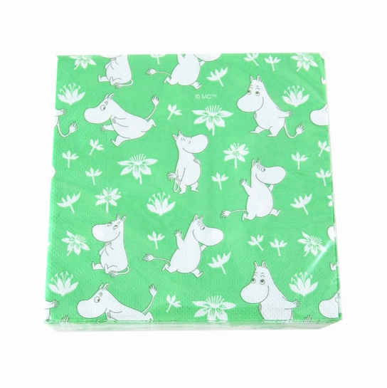 Moomin Green Lunch Napkins