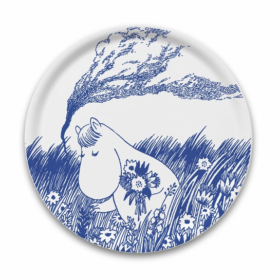 Moomin Nordic Blue Snorkmaiden Large Round Tray