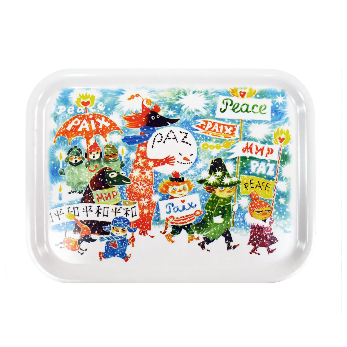 Moomin Peace Unicef Small Tray - Great Gifts under $50