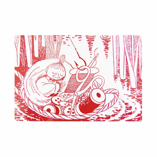 Moomin Sleeping Little My Red Placemat