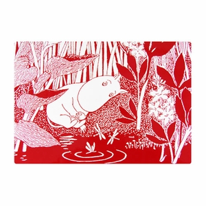 Moomin Sleeping Red Placemat