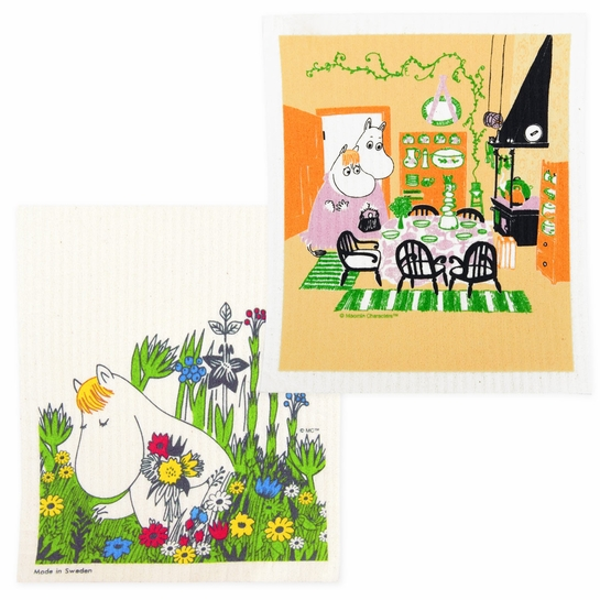 Moomin Summer Kitchen Dishcloth Set