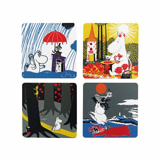 Moomin Sunshine Coasters - Set of 4